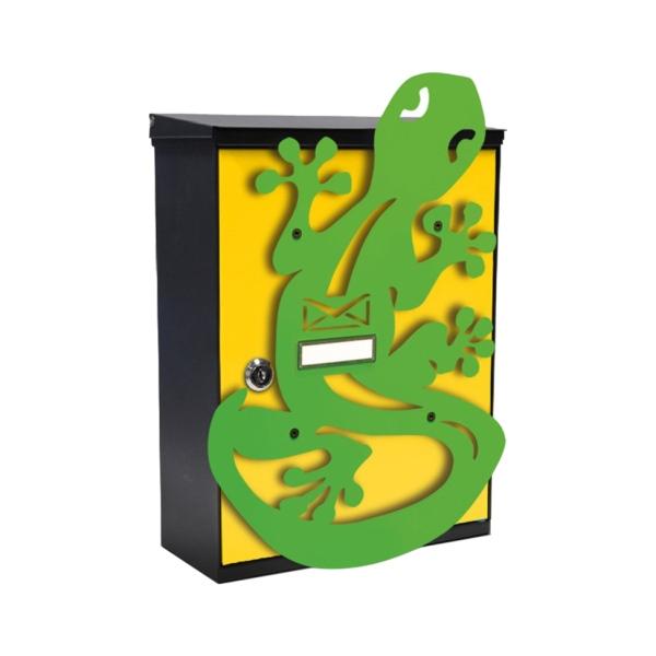 MIA box Geko Y - poštovní schránka s výměnným krytem a jmenovkou, ještěrka