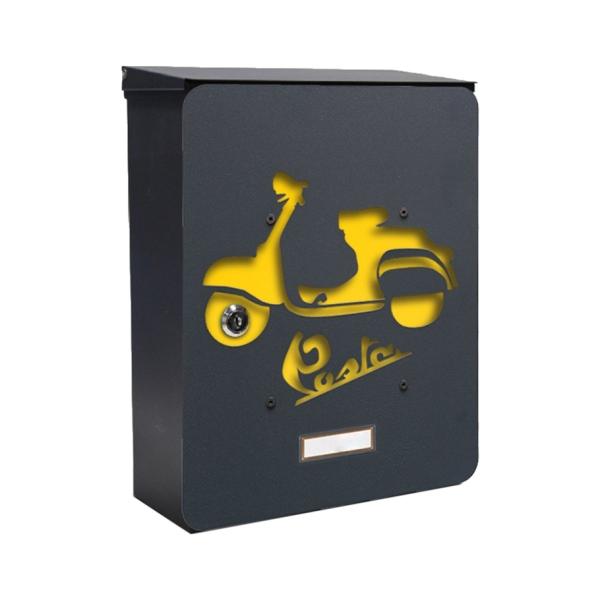 MIA box Morobike Y - poštovní schránka s výměnným krytem a jmenovkou, motocykl