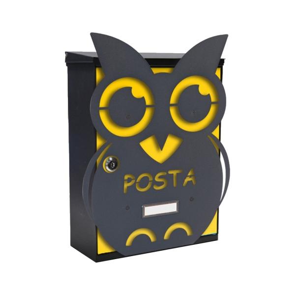 MIA box Owl Y - poštovní schránka s výměnným krytem a jmenovkou, sova