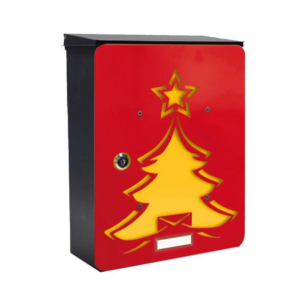MIA box Red tree Y - poštovní schránka s výměnným krytem a jmenovkou, strom