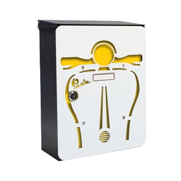 MIA box Scooter Y - poštovní schránka s výměnným krytem a jmenovkou, skůtr