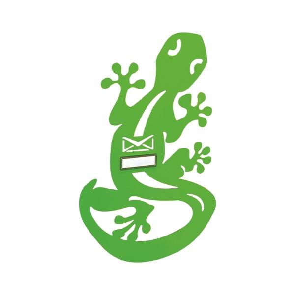 MIA Geko - výměnný kryt pro poštovní schránky MIA box, ještěrka