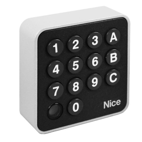 NICE EDSWG- bezdrátová osvětlená kódová klávesnice 3-kanálová k pohonu bran a vrat