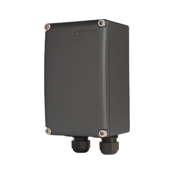 LOCINOX PB 1 C - hliníková krabice s DIN lištou, IP66, 96 x 155 x 86 mm, černá