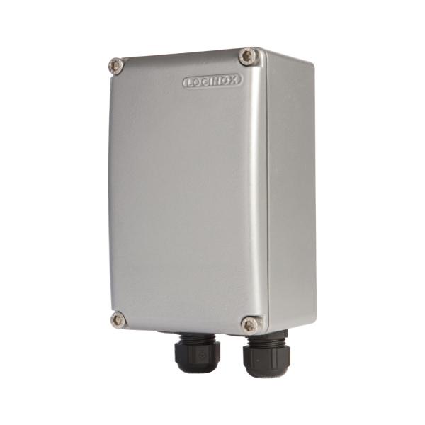 LOCINOX PB 1 S - hliníková krabice s DIN lištou, IP66, 96 x 155 x 86 mm, stříbrná