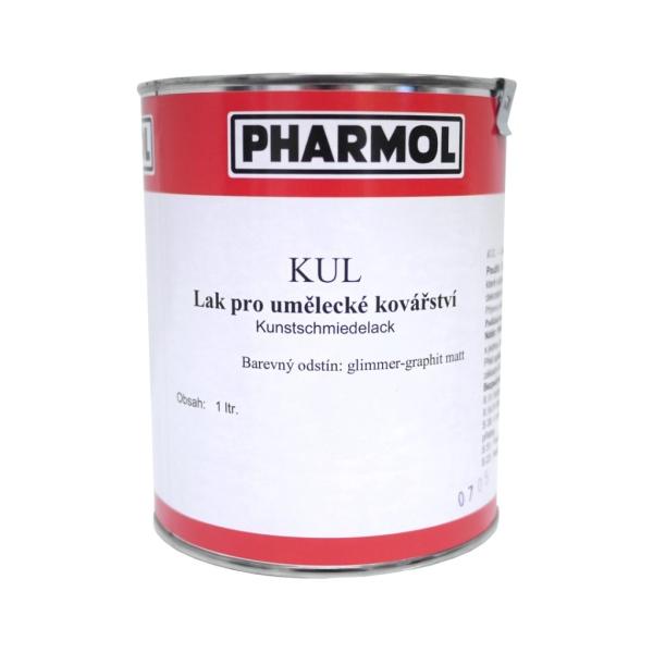 Grafitová matná barva - lak pro umělecké kovářství Pharmol Kul Glimmer-graphit matt, 1 litr