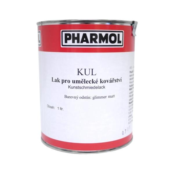 Černá matná barva - lak pro umělecké kovářství Pharmol Kul Schwarz matt, 1 litr