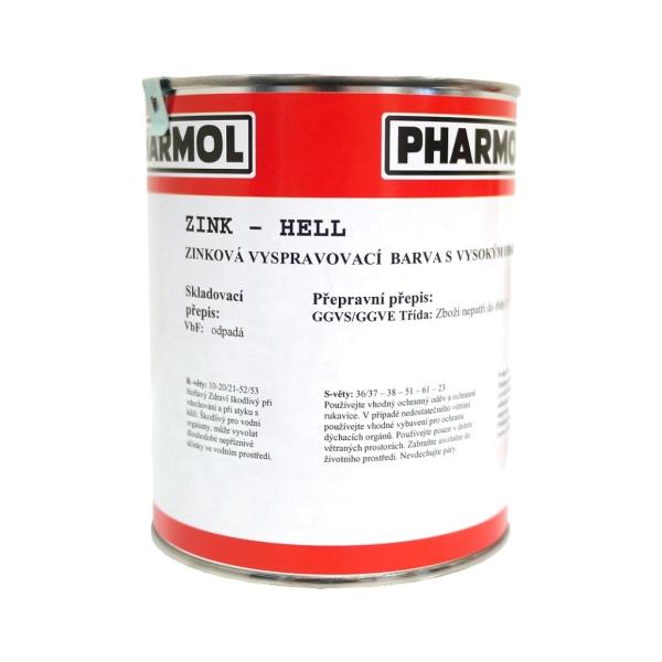 Zinková antikorozní barva Pharmol Zink Hell, 1 litr, proti reznutí a korozi kovů včetně oceli