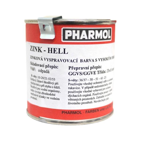 Zinková antikorozní barva Pharmol Zink Hell, 250 ml, proti reznutí a korozi kovů včetně oceli