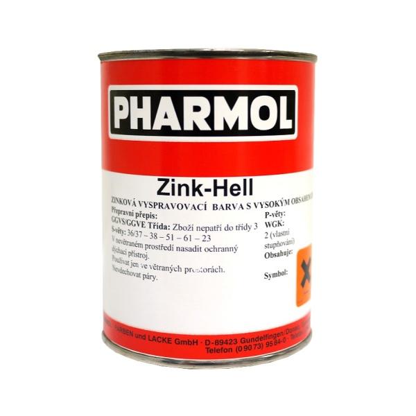 Zinková antikorozní barva Pharmol Zink Hell, 500 ml, proti reznutí a korozi kovů včetně oceli