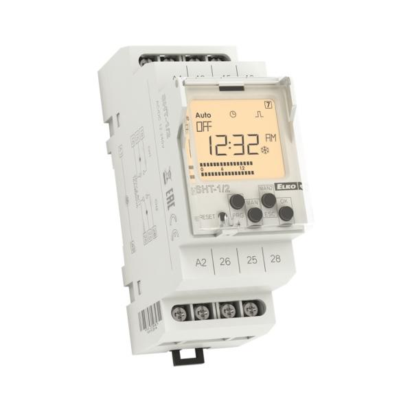ELKO EP SHT-1/2 /UNI - digitální dvoukanálové spínací hodiny, 12-240 V AC/DC