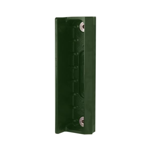 LOCINOX SMKL QF2 6005 - dorazová lišta pro křídlové branky, na rovinu, zelená