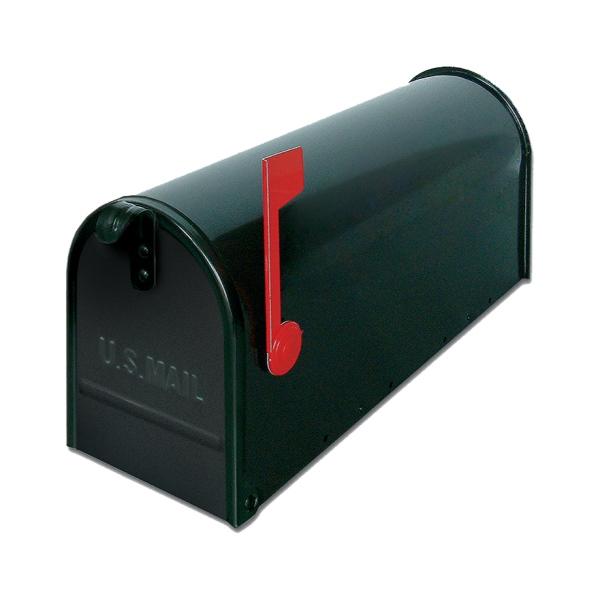USA1NE - poštovní schránka, americká s vlaječkou a stojanem, černá