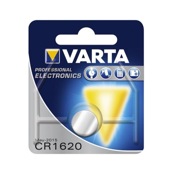 Knoflíková Li-Mn 3V baterie VARTA CR1620 pro dálkový ovladač pohonu brány a vrat Came