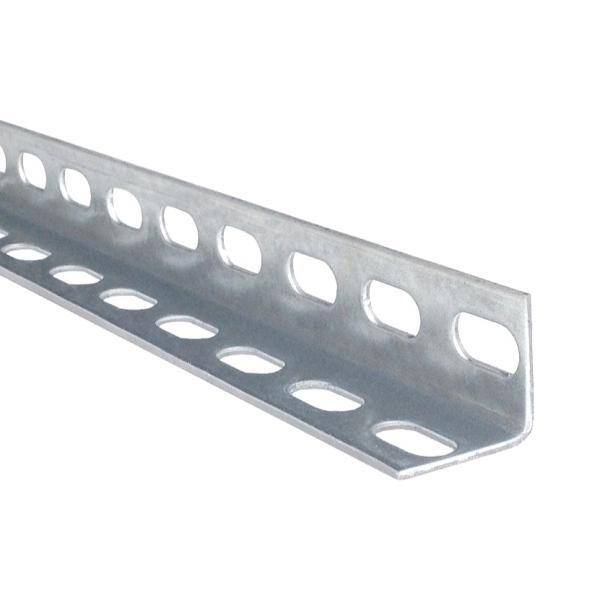 Montážní děrovaný úhelník pro ukotvení kolejnice pohonu garážových vrat, pr.30x30 mm, 3 m