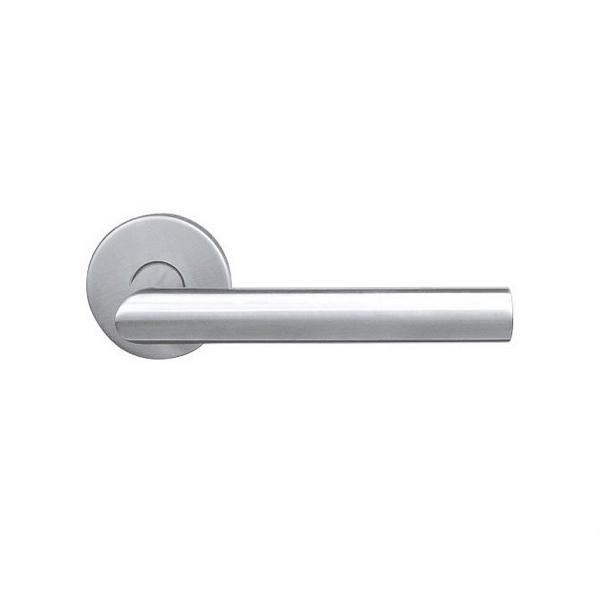 Nerezová dveřní klika 403-VA s kruhovou rozetou, 1 pár