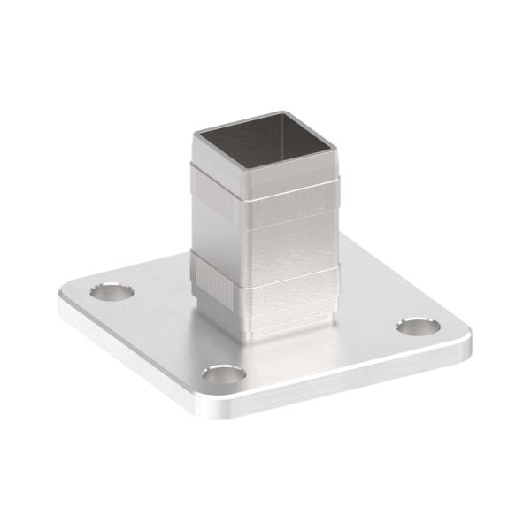 50020-240 - nerezová kotvicí příruba pro jekl pr. 40x40 mm, vrchní i boční, pro nerezové zábradlí