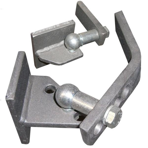 Mimoosový pant na bránu na ocelový sloupek - spodní a horní komplet pro 1 křídlo