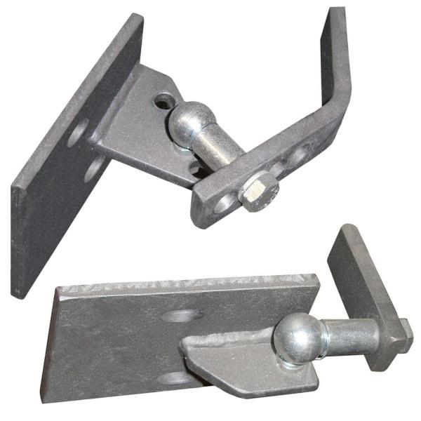 Mimoosový pant na bránu na betonový sloupek - spodní a horní komplet pro 1 křídlo