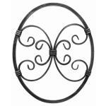 Ozdobný ornament pro kované ploty, brány a mříže 13.006 pr.12x12 / 12x6 mm, 375 x 300 mm