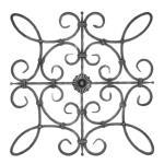 Ozdobný ornament pro kované ploty, brány a mříže 13.011 pr.12x12 mm, 660 x 660 mm