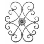 Ozdobný ornament pro kované ploty, brány a mříže 13.016 pr.16x8 mm, 480 x 410 mm
