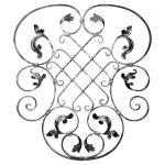 Ozdobný ornament pro kované ploty, brány a mříže 13.029 pr.16x8 mm, 800 x 700 mm
