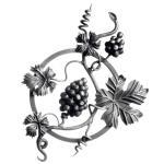Ozdobný ornament pro kované ploty, brány a mříže 13.037 pr.12x12 mm, 450 x 340 mm